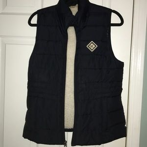 Navy blue vest from Hollister
